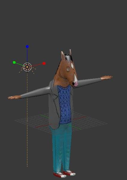 bojack horse 3D model