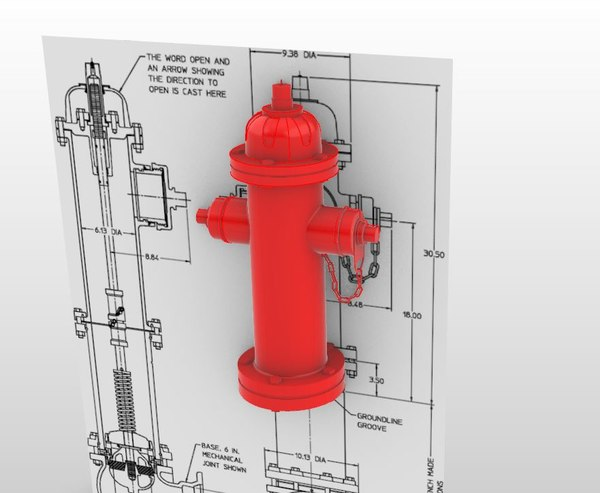 3D hydrant