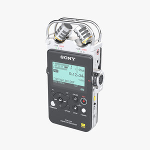 portable pcm recorder sony 3D model