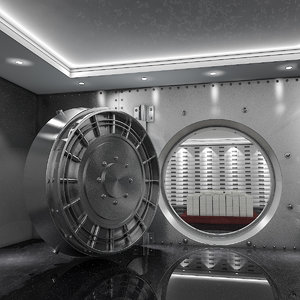 3D bank vault coins