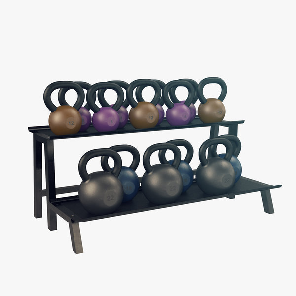 3D model kettlebell rack