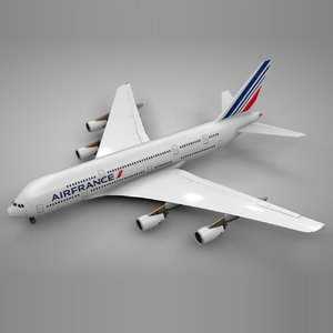 airbus a380 air france 3D model