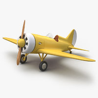 cartoon airplane 3D