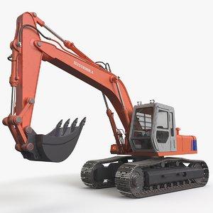 3D rigged excavator tracks