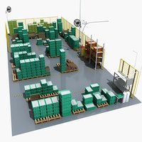 3D warehouse storage boxes
