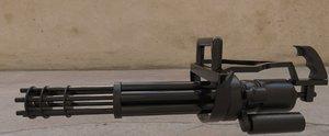 gun minigun 3D model