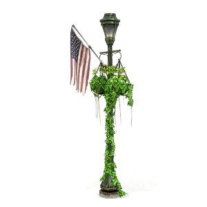 overgrown lamp post 3D model
