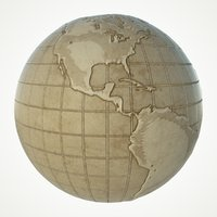 maps earth globe world 3D model