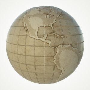 maps earth globe world 3D model