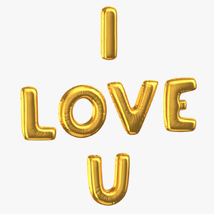 golden foil balloons words model