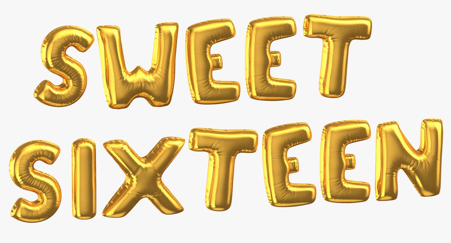 3D golden foil balloons words