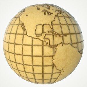 3D model maps earth globe world