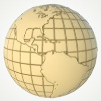 3D maps earth globe world