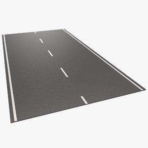 bitumen road 3D model