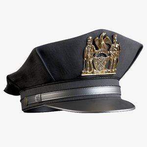 3D policeman cap class b model