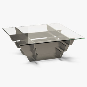 3D square coffee end table