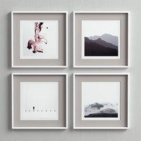 3D picture frames set model