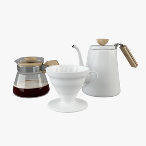 3D hario coffee