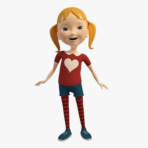 3d cartoon character girl
