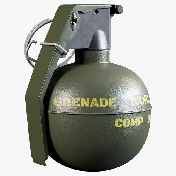 tmc m67 frag grenade model