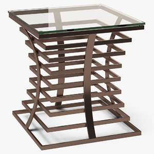 square end table metal 3D