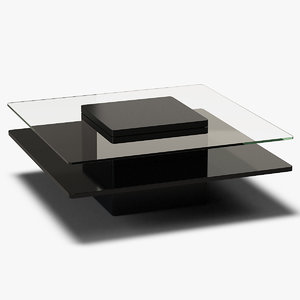 square coffee table metal model