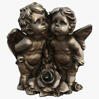 angels statuettes 3D model