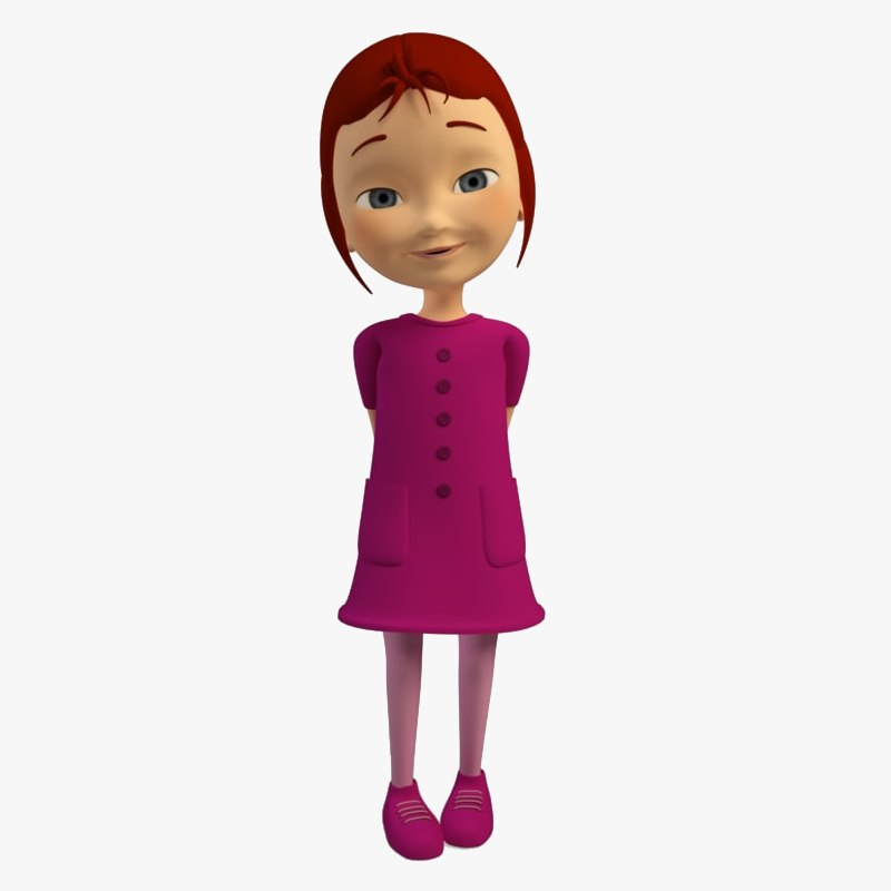 3d ma cartoon character girl