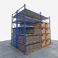 warehouse pallet rack 3D
