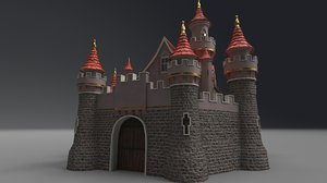 3D fantasy castle model
