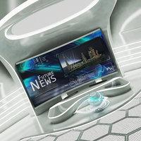 Futuristic Sci-Fi News Studio 3D