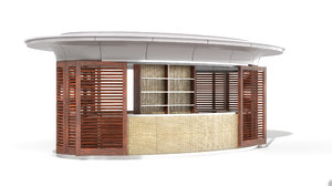 3D kiosk modo model
