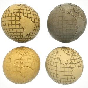 3D maps earth globe world