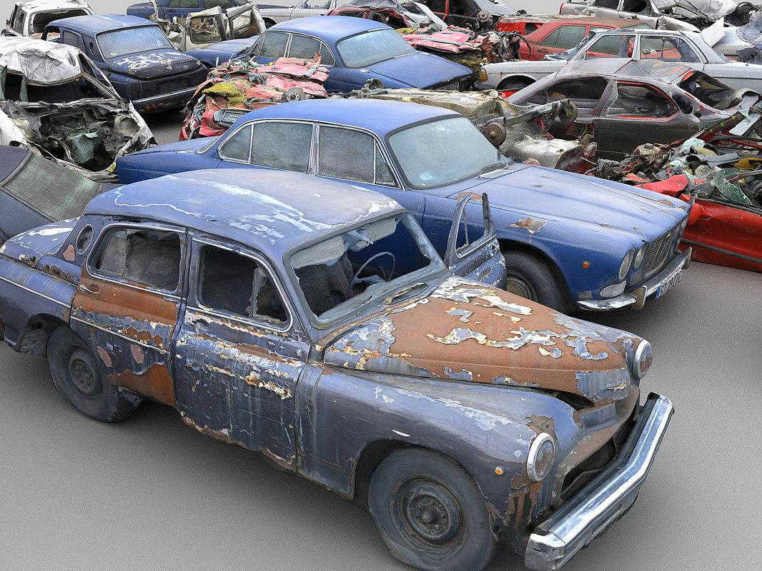 car wreck pack 10 3D model
