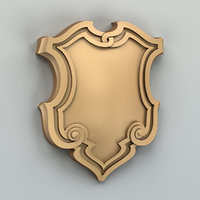 decorative cartouche 3D model