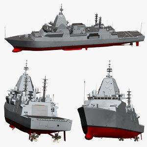 3D type26 frigate model