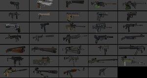 guns pack 34 3D