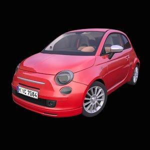 generic italian hatchback interior car 3D