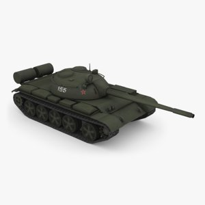 t-55a medium tank 3D model