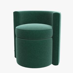 3D model stool arcadia armchair