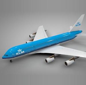 3D airbus a380 klm l094 model