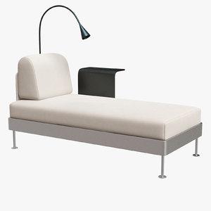 3D delaktig chaise longue w