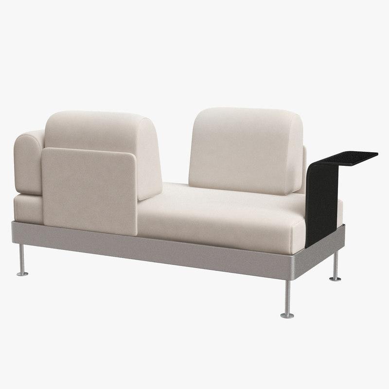 Ikea Delaktig Sofa 2 Plazas Con Mesa Auxiliar