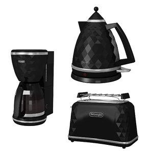 3D model kettle toaster