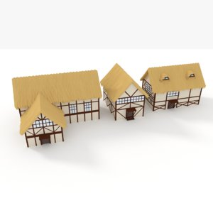 thatched roof house games model