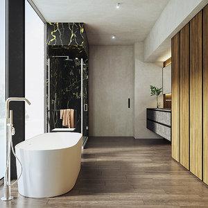 3D bathroom pbr model