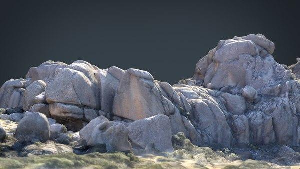 mountain rocks 8 3D model