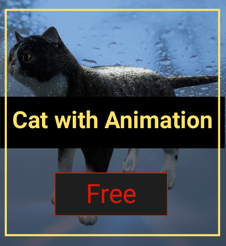 cat animation model