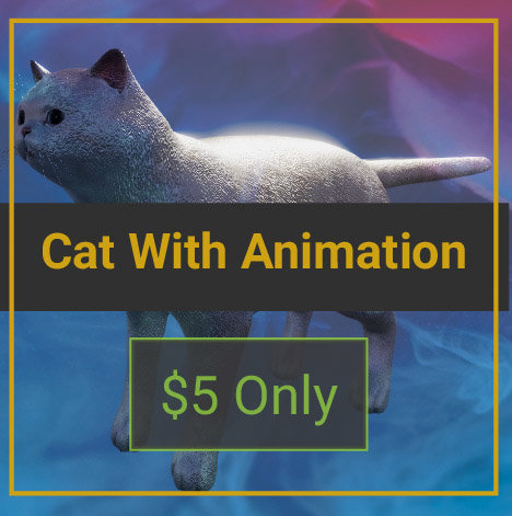 3D animals cat mammal model