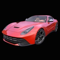 3D generic italian supercar interior car model